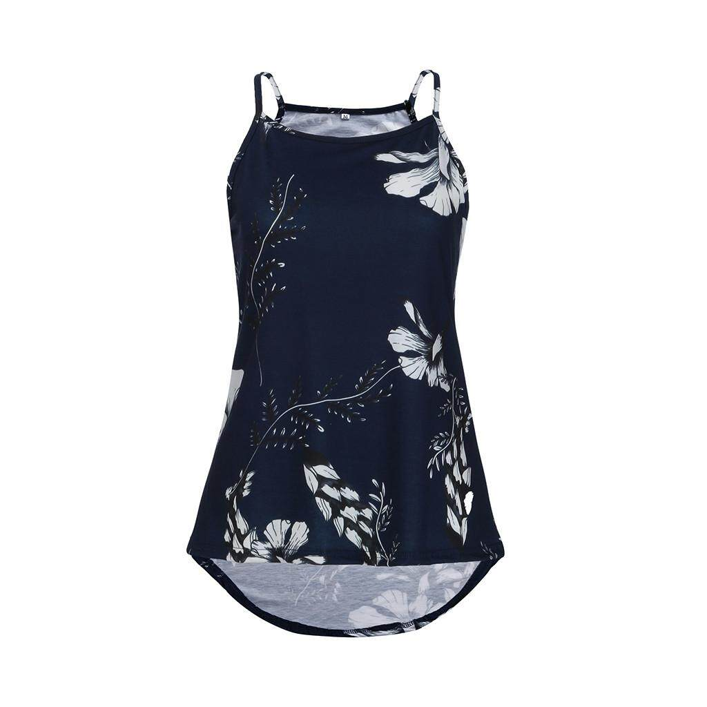 0fb0e793fce4 Qusaystore Women Summer Floral Vest Sleeveless Shirt Blouse Casual Tank Tops  T-Shirt