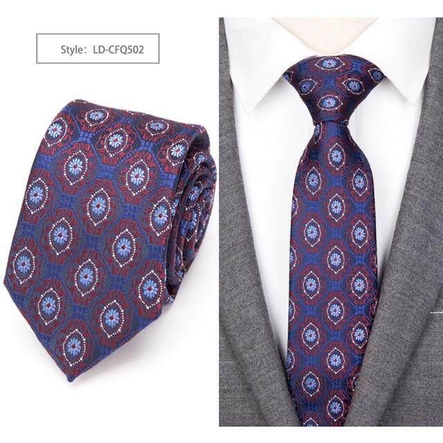 USA Men/'s Red Paisley Silk Tie Wedding Necktie Set Business Woven Jacquard