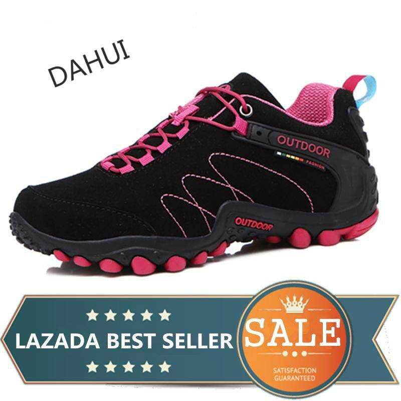 Men And Women Hiking Shoes Mountain Climbing Trekking Shoes Outdoor Sneaker (black) By Taishandahui.