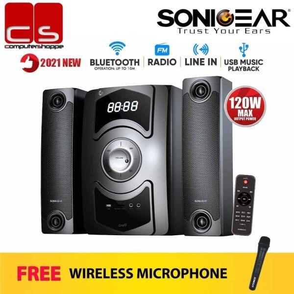 SonicGear Evo 9 BTMI Bluetooth Multimedia Speaker with Wireless Microphone Malaysia