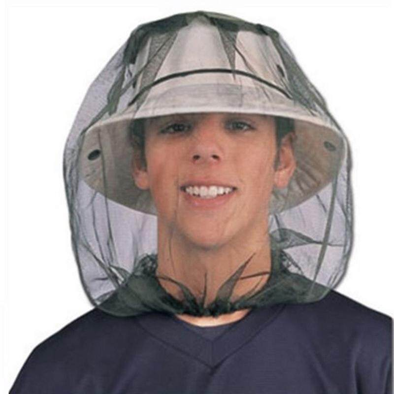 (Overseas Shipping) Hat Mosquito Hiking Mesh Face Protector Bug