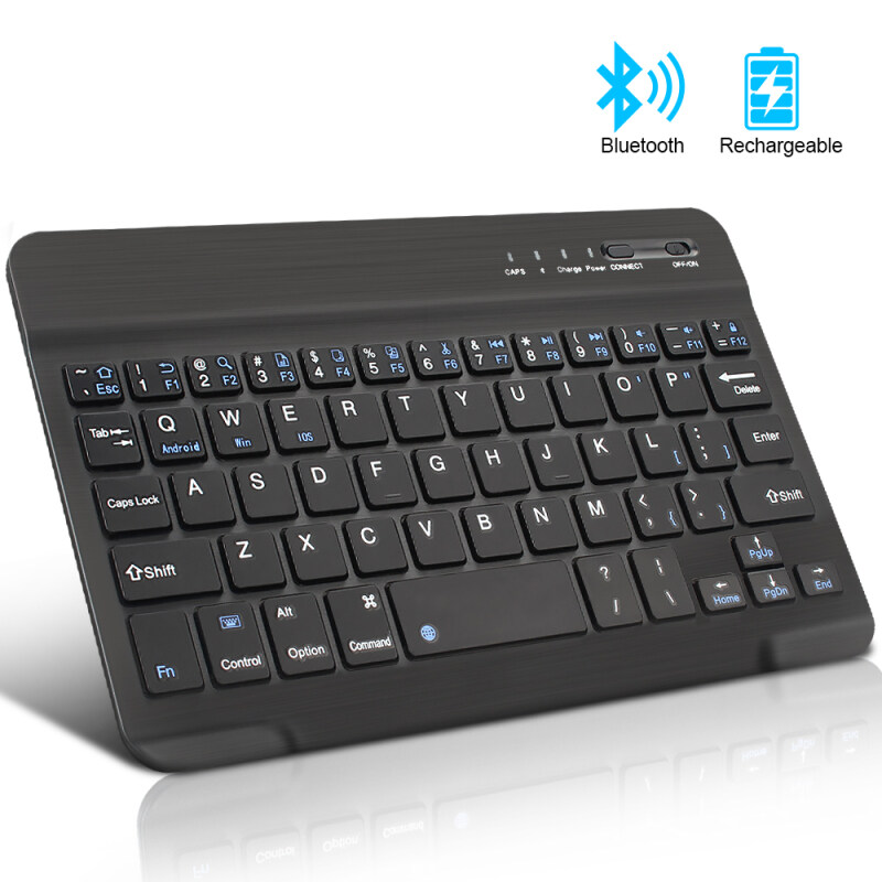 10 inch Mini Wireless Keyboard Bluetooth Keyboard For ipad Phone Laptop Rubber keycaps Rechargeable keyboard For Android ios Windows Malaysia