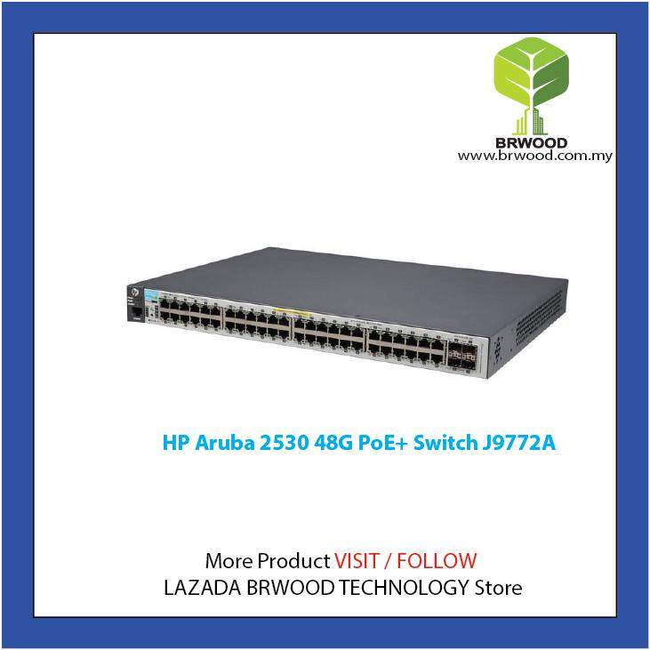HP ARUBA J9772A: ARUBA 2530 48G POE+ 48 PORT 10/100/1000 MBPS C/W 4XSFP  SWITCH