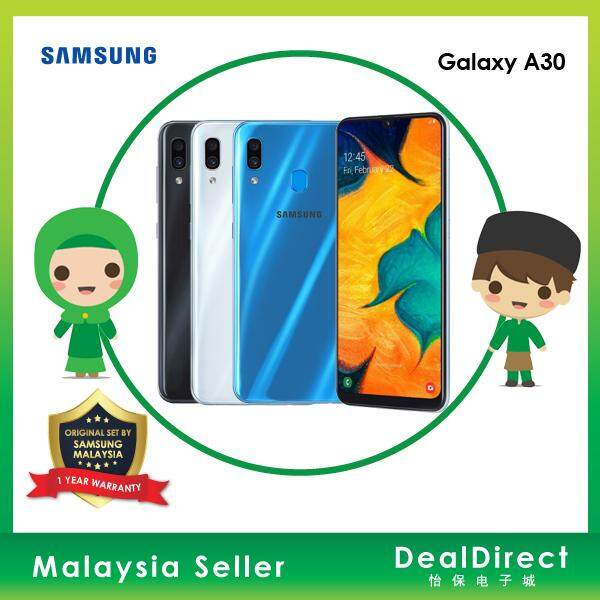 New Original Samsung Galaxy A30 - 6.4 Inch Fhd+ Super Amoled 64gb + 4gb Octa Core Ori Black White Blue 1 Year Warranty By Samsung Malaysia Warranty Sme Offer Discount Promo Promotion Deal Direct By Deal Direct.