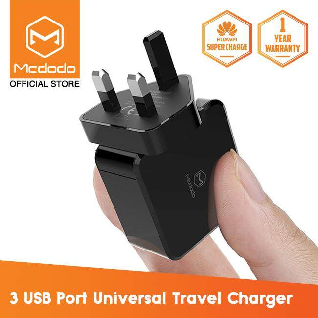 Mcdodo Huawei Super Charge 5A Wall Charger (UK Plug) (QC3 0/FCP/SCP/AFC) -  CH613