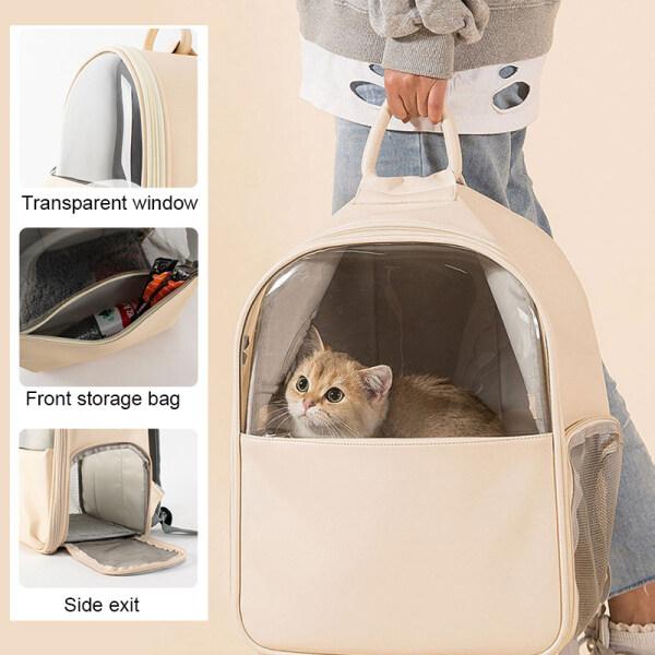 Địu Cho Mèo Ba Lô Mèo Có Cửa Sổ, Túi Đựng Mèo Thú Cưng Trong Suốt, Ba Lô Vận Chuyển Lồng Viên Nang Không Gian Cho Thú Cưng Dành Cho Chó Nhỏ
