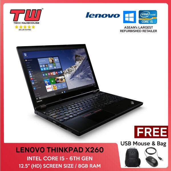 LENOVO THINKPAD X260 / INTEL CORE I5 6TH GEN / LAPTOP / 12.5 / 8GB RAM Malaysia