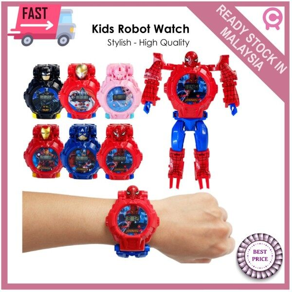 🌺FAST SELLING🌺Robot Transformation Wristwatch Toy For Boy - Electronic Robot Watch Toy for Birthday Christmas Gifts Malaysia