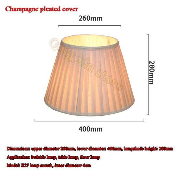 Table Lamp Lampshade Accessories E27 Lampshade Lamp Bedroom Bedside Lamp Wall Lamp Floor Lamp Fabric Lampshade,Upper diameter 26cm, diameter 40cm