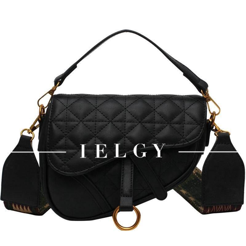 IELGY fashion rhombic saddle bag shoulder diagonal package