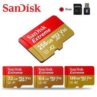 Readystock + Miễn Phí + COD SanDisk Micro SD 128GB 64GB 32GB Bộ Nhớ Thẻ Cực Siêu 256GB Microsd TF Thẻ 100 MB giây Class10 U1 U3 4K Với Bộ Chuyển Đổi Cho Điện Thoại thumbnail