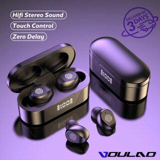Bluetooth 5.0 Không Dây Earbuds Sạc Trường Hợp Cảm Ứng Điều Khiển Thể Thao Tai Nghe Trong-Tai IPX7 Không Thấm Nước HD Stereo Sweatproof Tai Nghe Với được Xây Dựng-In Mic Cho Phòng Tập Thể Dục Và Chạy thumbnail