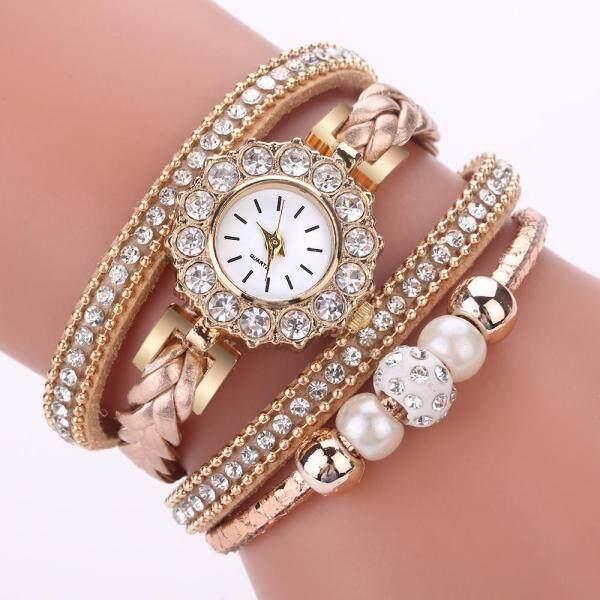 Yoka Smecta Women Watches Fashion Vintage Weave Wrap Quartz Wrist Watch Bracelet For Ladies Malaysia