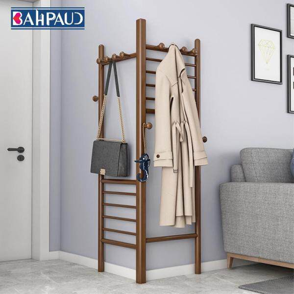 Bahpaud Nordic Coat Rack Floor Simple Triangle Corner Bedroom Hanging Bag Rack Creative Multi-functional Household Bamboo Bamboo Clothes