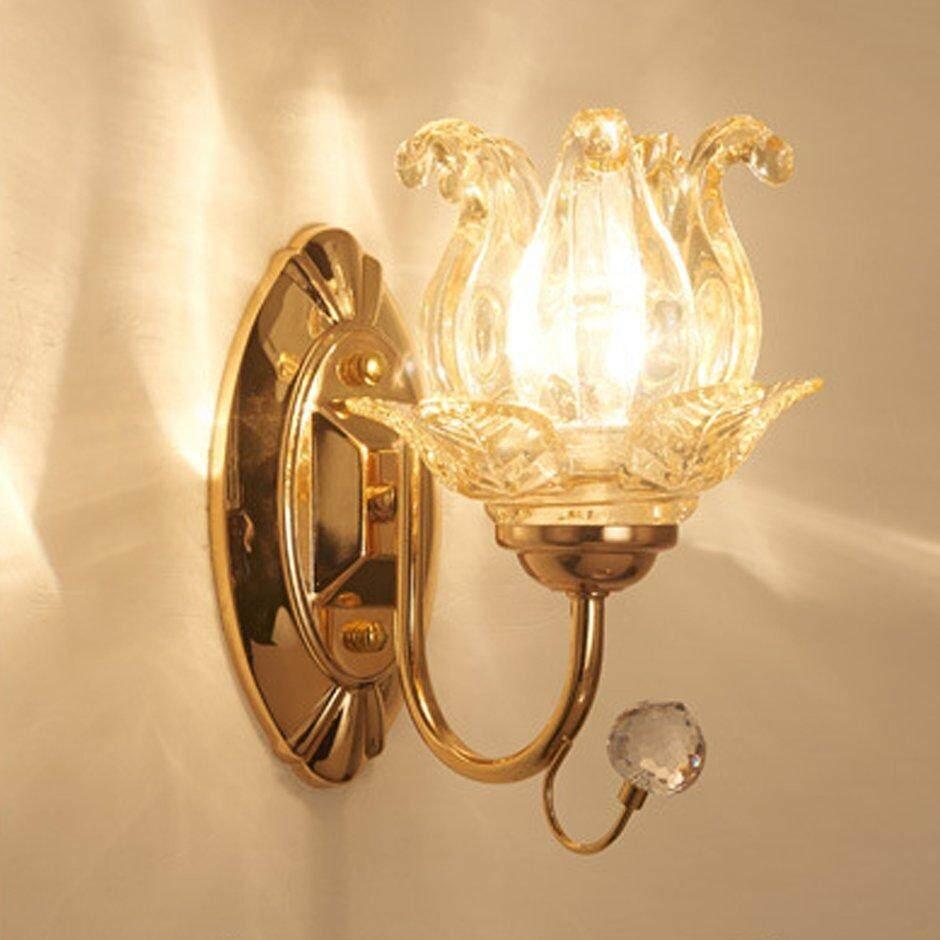 Best Sales Modern Minimalist Led Crystal Wall Light Lamp Bedroom Home Decoration B035