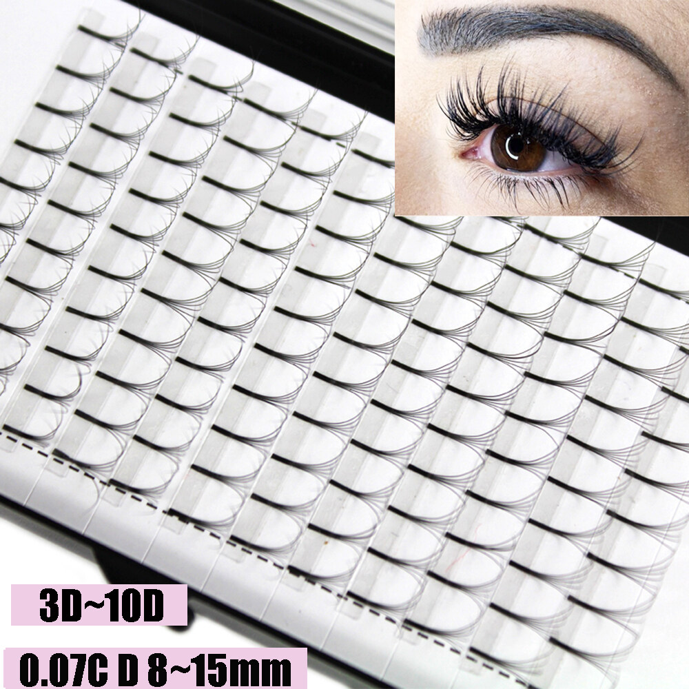 Skonhedขนตาปลอม12เส้นแบบ3d ~ 10d,ขนตาปลอมกึ่งถาวรได้อย่างรวดเร็วc Dขดหนา0.07หนาต่อขนตาให้หนาขึ้น.