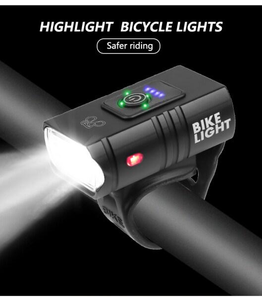 Ngôi Nhà Lớn 2 T6 Đèn Led Xe Đạp Độ Sáng Cao Có Thể Sạc Qua USB Đèn Xe Đạp Có Thể Nhấp Nháy Cho Ngoài Trời