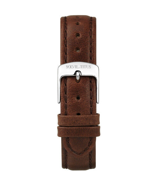 Solvil et Titus T06-028-13-061 16mm Brown Leather Watch Strap Malaysia