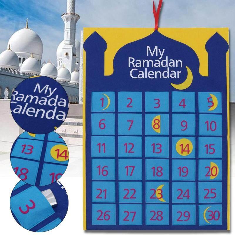 Lịch Ramadan Nỉ, Trang Trí Ramadan Eid Nhà Thờ Hồi Giáo Trăng Lưỡi Liềm Mubarak Miễn phí vận chuyển