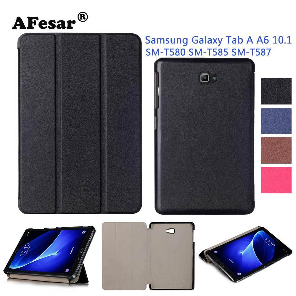 c6967dd7de91 SM-T580 Tab A6 10.1 2016 Slim Smart Case Cover- For Samsung Galaxy Tab A  10.1 T585 T587 tablet book flip cover case magnet stand