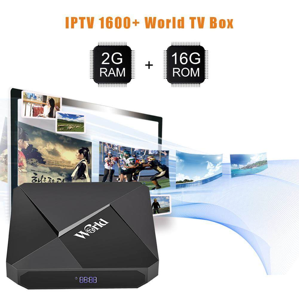 World TV 2G+16G Android 7 1 TV Box S905W IPTV 1600+ 2 4G WiFi Set Top Box