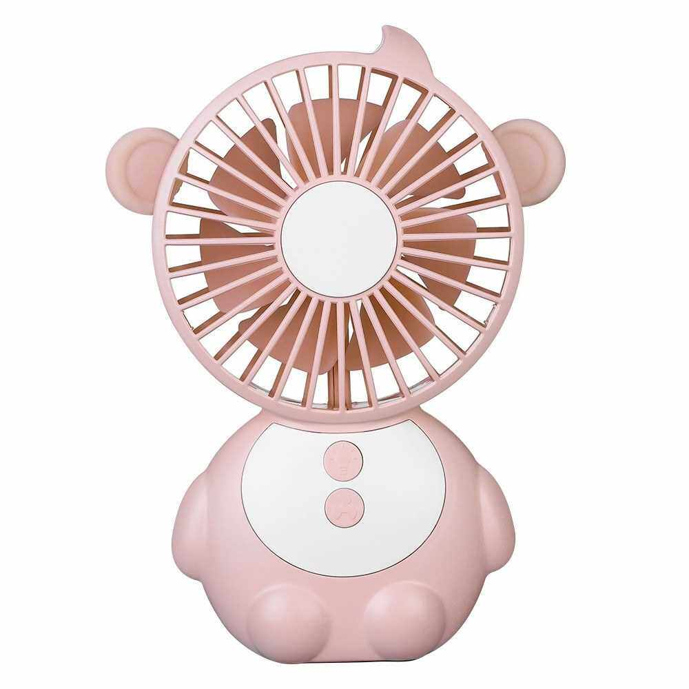 DC5V 1.2-4W 3 Levels Wind Speed Adjustable Mini USB Powered Operated Fan (Pink)