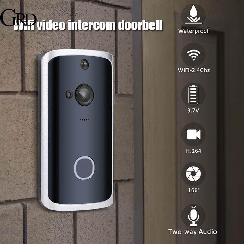 GRAND HD Night Vision Smart Video Doorbell Two Way Audio Wireless Doorbell Intercom Security System IR Motion Detection Wifi WiFi Door Bell