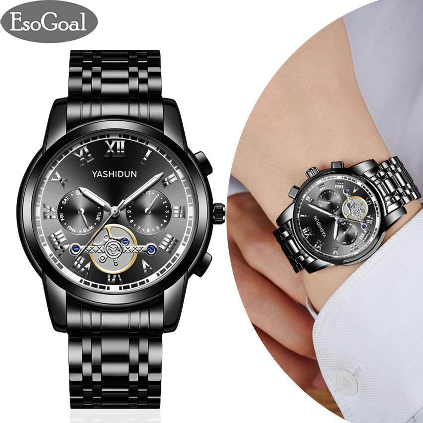 EsoGoal Business Men Quartz Watches Waterproof Fashion Fine Steel Belt Watches Luxury Business Man Watch with Luminous Malaysia