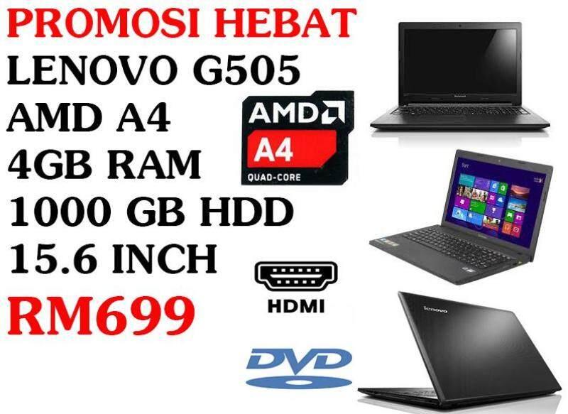 PROMOSI HEBAT LENOVO G505 AMD A4 4GB RAM 1000 GB HDD 15.6 INCH Malaysia