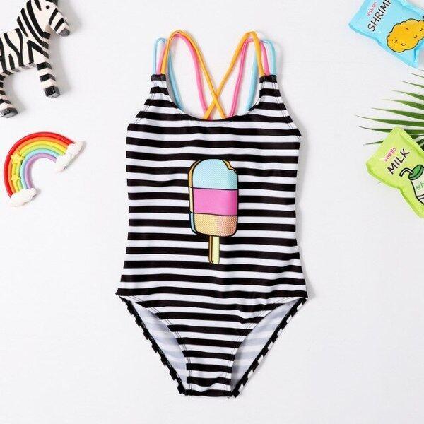 Nơi bán Đồ Bơi Bé Gái Mới 2019 Đồ Bơi Bé Gái 3 ~ 8 Tuổi Đồ Bơi Trẻ Em Một Mảnh Đồ Bơi Kiểu Dây Cho Bé Gái Beachwear-SW412