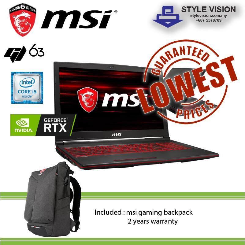 MSI GL63 8SE-099 ( i5-8300H | 8GB | 128GB SSD+1TB HDD | RTX2060 | 15.6 FHD | WIN10 ) Malaysia