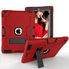 Dành cho iPad 2/3/4 Ốp Lưng [Chống Sốc Hybrid] 3 Lớp Nhựa và Cao Su Bảo Vệ Nặng nhiệm vụ Chắc Chắn Bảo Vệ, có Chân Đế, Toàn Thân Giáp Hậu Vệ, Thả Chứng Minh