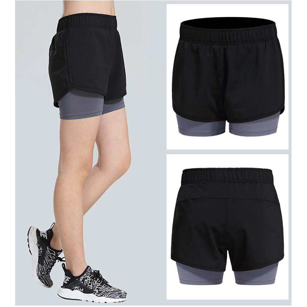 3e8f36a1105 (A-boxes)_Female Cotton Anti-lighting Running Shorts Female Yoga Jogging  Hot Pants Free shipping
