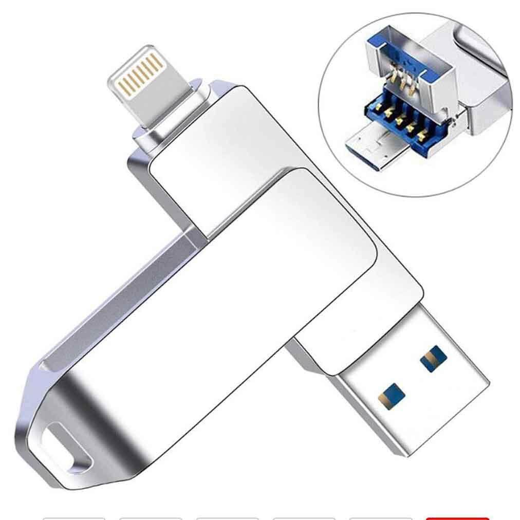 Giá Pendrive 1024GB 1TB For iPhone iPad Android Phone PC OTG USB Flash Drive 3 Port Usb 2.0 Pen Drive