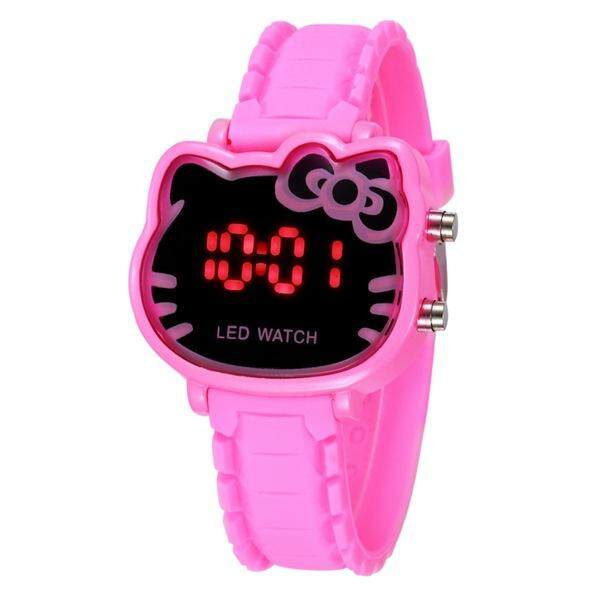 YB1157 Hello Kitty Watch Women Led Digital Cartoon Wrist Watches Children Girls Casual Womens Clock FWKI 02 Malaysia