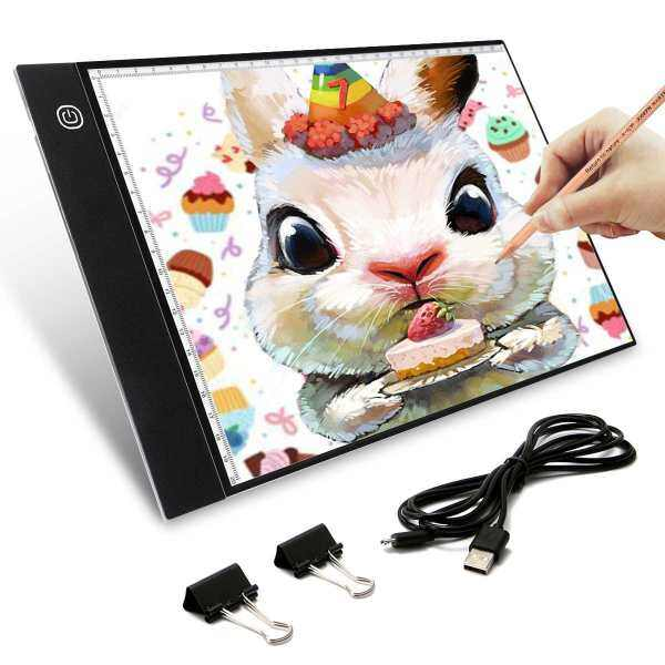 New A4 LED Digital Drawing Graphic Tablet Writing Painting Box Tracing Board LED Light Pad Copy Board with Brightness Control