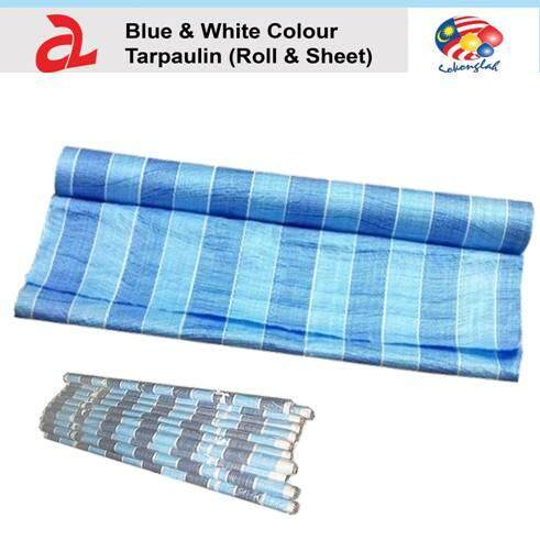 Canvas Roll PE Tarpaulin Outdoor Construction Renovation Floor Cover Canopy Tent Side Wall Shield Waterproof UV Protection