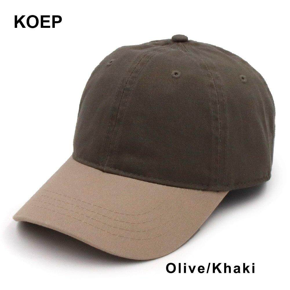 ef52a095499f7 KOEP High Quality Washed 100% Cotton Adjustable Solid Color Baseball Cap  Unisex Couple Cap Fashion Leisure Dad Hat Snapback Cap Philippines