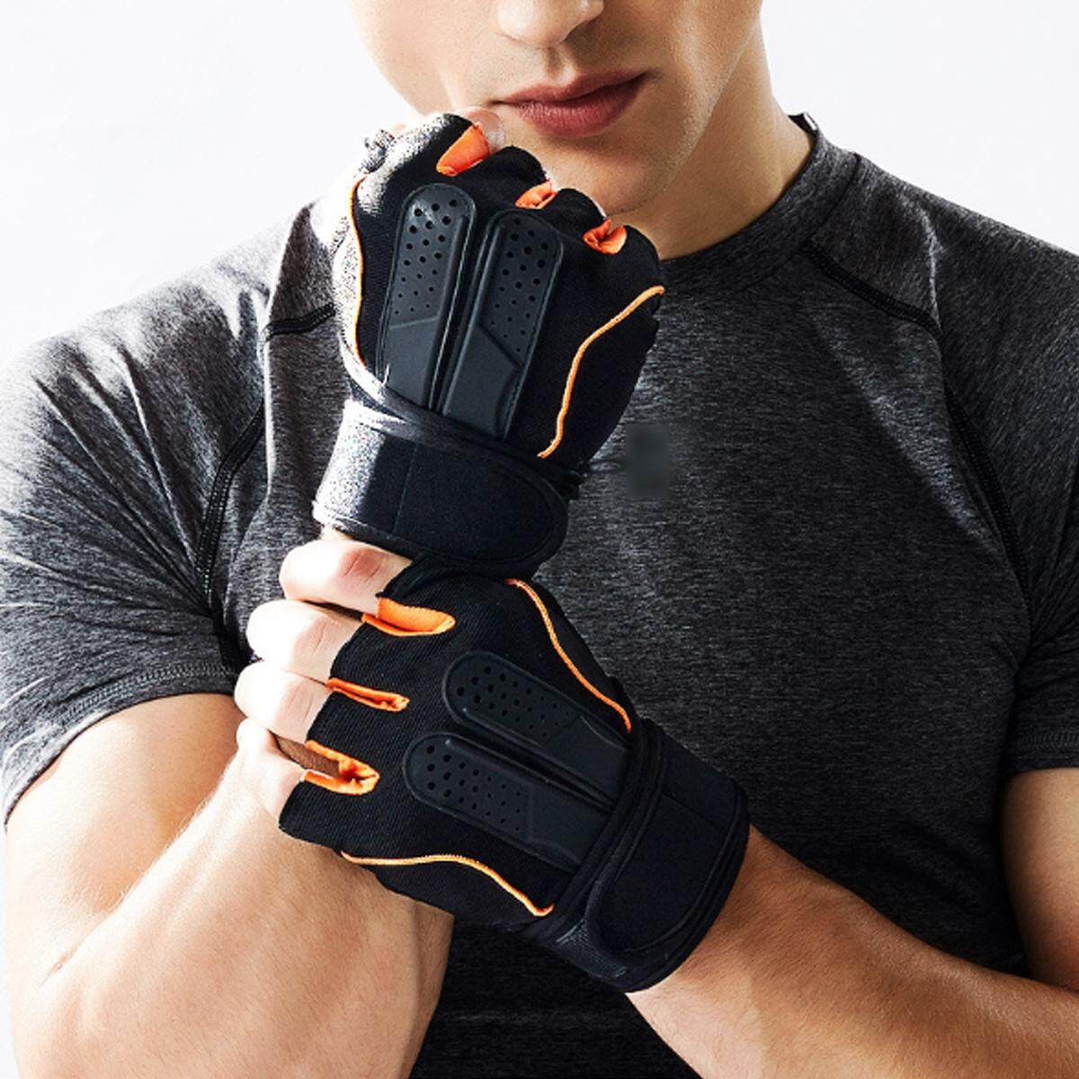 【free Shipping + Flash Deal】body Building Gloves Fitness Gym Wear Weight Lifting Cycling Workout Training (xl) By Freebang.