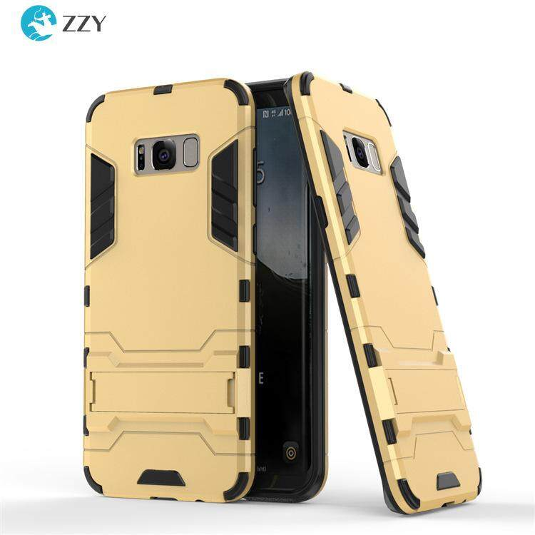 For Samsung Galaxy S8 Case Luxury Iron Man Shockproof Antiskid Hard Armor and Soft Silicone TPU