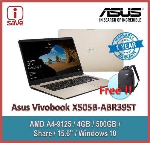 ASUS Laptop Vivobook X505B-ABR395T 15.6 Gold (A4-9125 2.60GHZ,4GB,500GB,15.6  HD,W10) Malaysia
