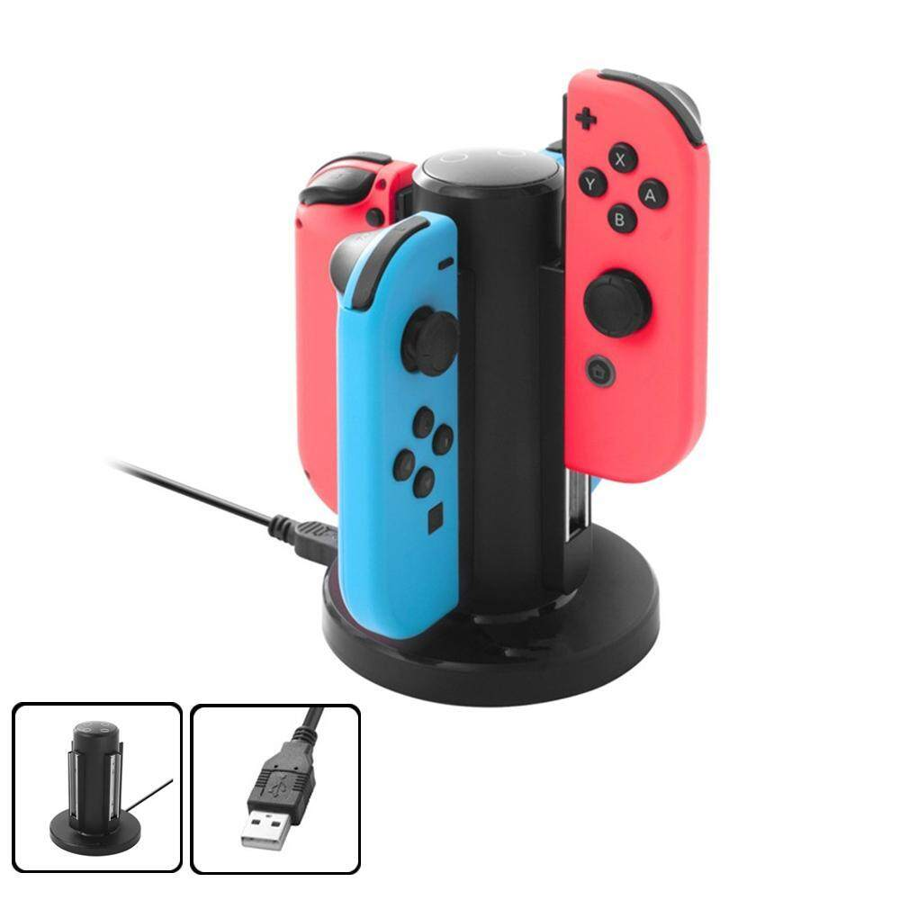 Outflety Joy Con Charger For Nintendo Switch By Insten 4 In 1 Joy-Con Charging Dock Station With Individual Led Charge Indicator And Usb Cable For Nintendo Switch Joycon Controller Console Accessories By Outflety.