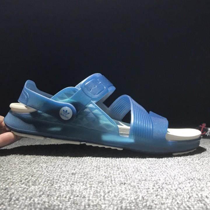 2644ec3e07e9 2018 NEW Adidas Duramo Slide Men s Fashion Sandals hook loop Beach Kasut