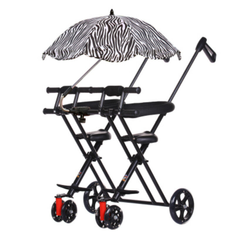 1-5 Years Kids Transport Cart Double Seat Stroller Child Folding Bikes For Twins Baby Walking Folding Scooter Portable Wheelchair Singapore
