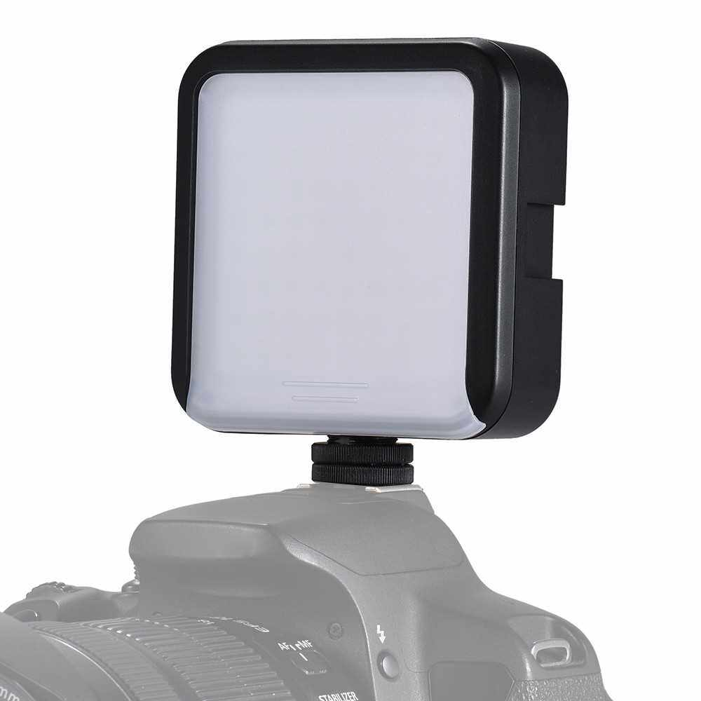 LED 64 Continuous On Camera LED Panel Light Mini Portable Camcorder Video Lighting for Canon Nikon Sony A7 DSLR ()