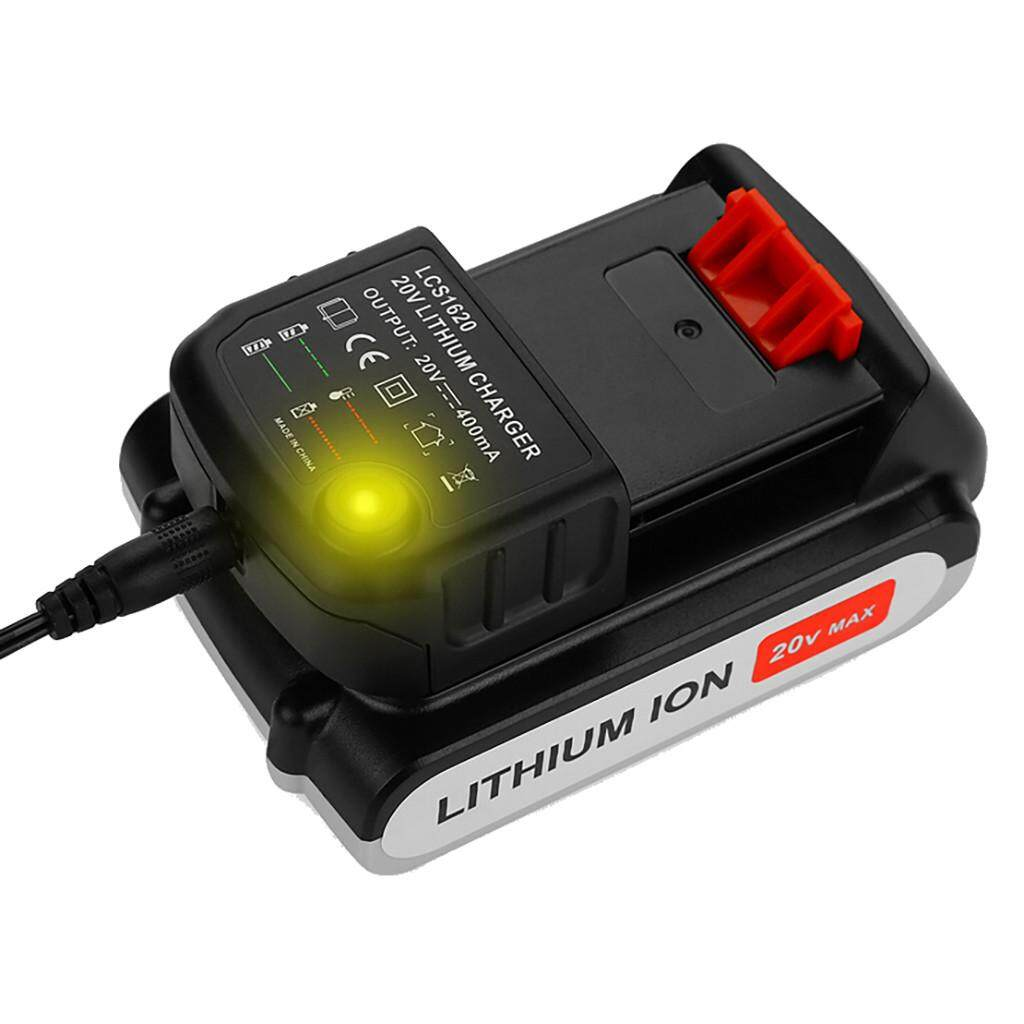20V Lithium Battery LCS1620 Charger For BLACK DECKER//PORTER-CABLE//STANLEY US