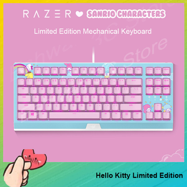 [Ready to Ship] Original Razer Hello Kitty Limited Edition Wired Gaming Keyboard Mechanical Keyboard For PC Laptop Computer Singapore