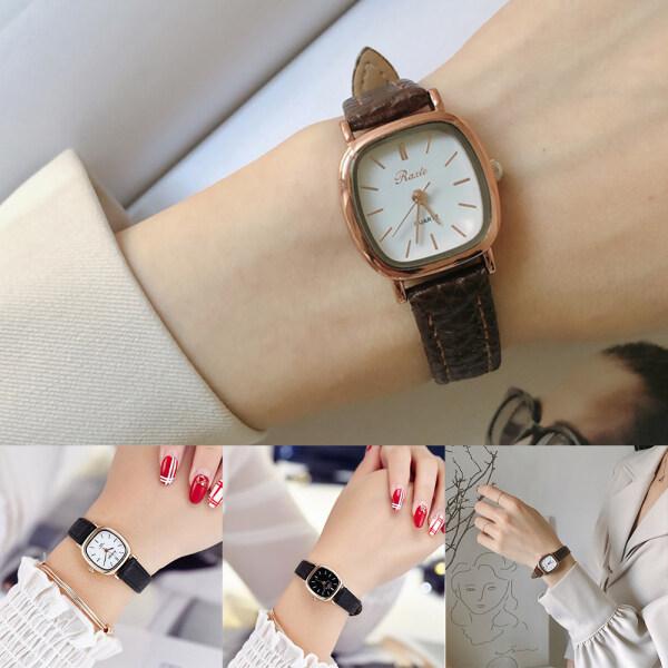 Angel_Lovee The Fifth Super Thin Rose Gold Leather Simple Fashion Women Ladies Watch Jam Tangan Wanita Perempuan Malaysia