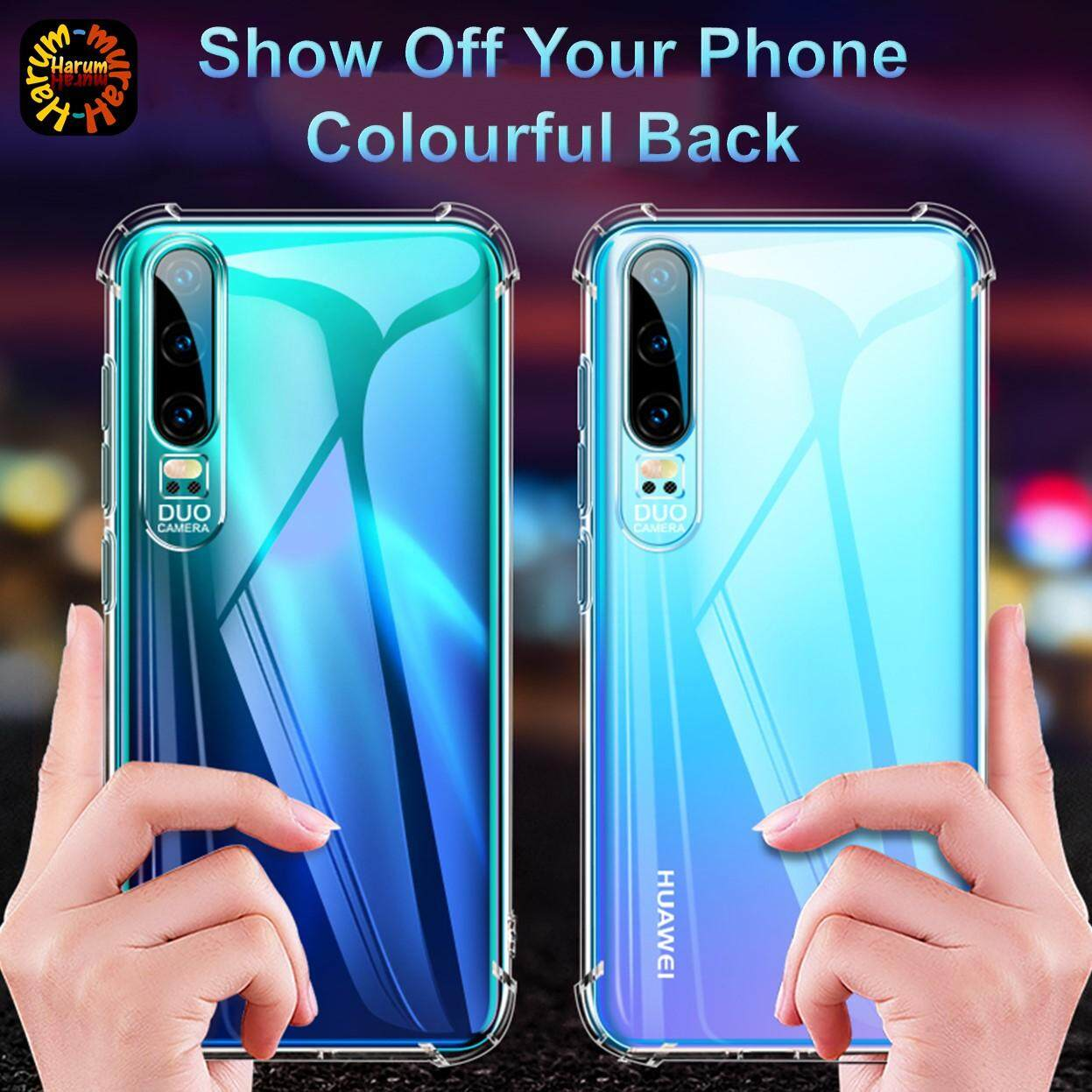 Turn sound transparent Protective case for Huawei P30 Pro , Huawei nova 4e  , P30 lite Anti Shock airbag shockproof 6D sound Silicone TPU Clear Cover