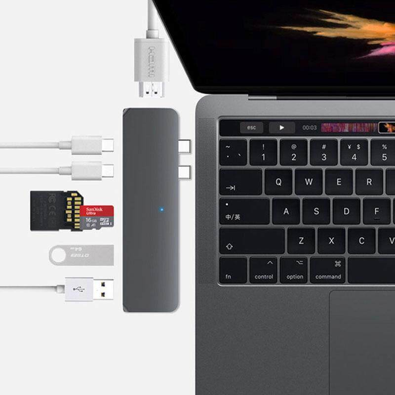 Usb Type C Hub Thunderbolt 3 Adapter Usb-c Dock Dongle With Hdmi 4k Pd 2 Usb 3.0 Micro Sd Tf Card Reader For New Macbook Pro Malaysia